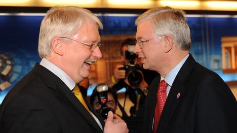 Roland Koch und Jörg-Uwe Hahn