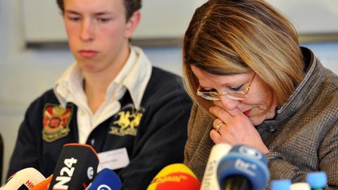 Schulleiterin Margarita Kaufmann auf der Pressekonferenz