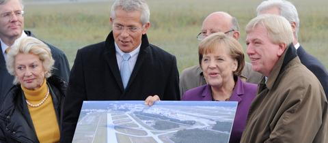 Kanzlerin Merkel bei der Eröffnung