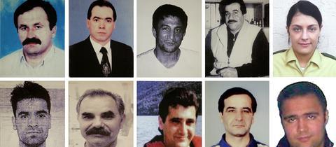 Unter den Opfern ist Blumenhändler Enver Simsek (oben links)