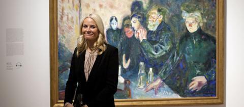 Die norwegische Kronprinzessin Mette-Marit bei der Eröffnung der Ausstellung