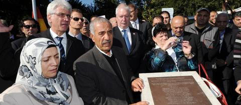 Enthüllung des Gedenksteins für Halit Yozgat