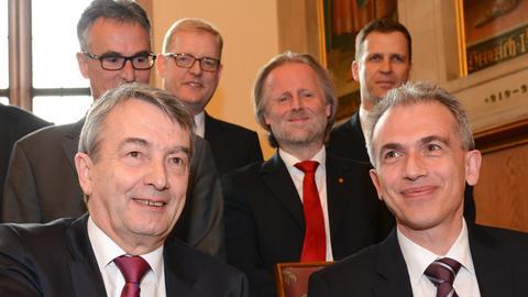 DFB-Präsident Niersbach und OB Feldmann