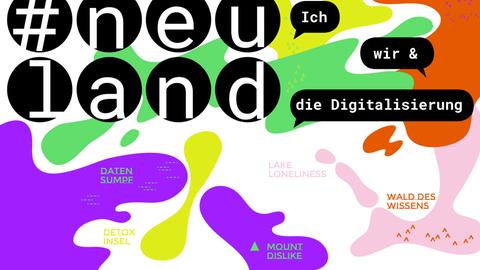 """Plakat zur Ausstellung """"#neuland"""" im Museum für Kommunikation"""