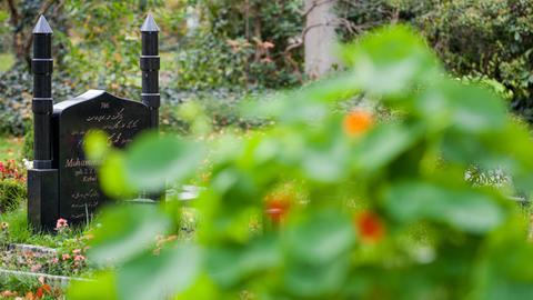 Symbolbild: Muslimisches Grab auf einem Friedhof