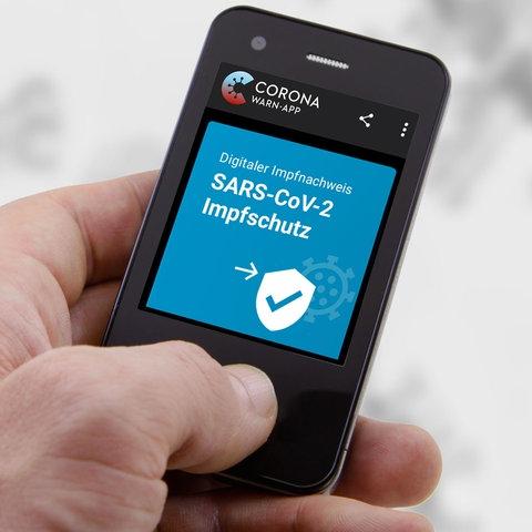 Digitaler Impfpass auf dem Smartphone