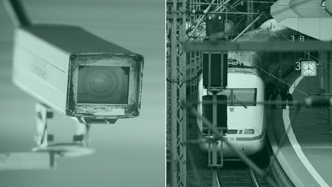 Überwachungskamera, Bahnhof