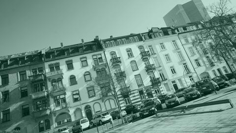 Häuser im Frankfurter Ostend in Sichtweite der EZB.