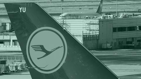 Lufthansa-Flieger in Frankfurt.