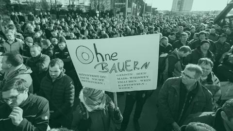 Bauern protestieren in Wiesbaden