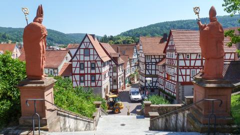 Blick auf Altstadt von Bad Orb von der St.-Martinskirche