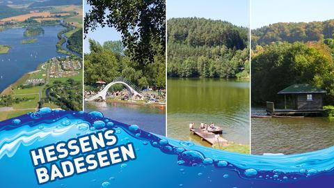 Beliebte Badeseen in Hessen.