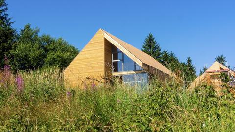 Holzhaus im Feriendorf auf der Wasserkuppe