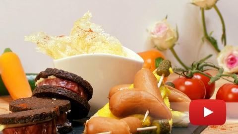 Hessische Tapas werden mit Handkäs' und Wurscht zubereitet.