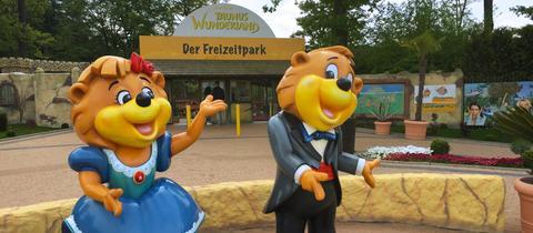 Der Eingangsbereich des Freizeitparks.