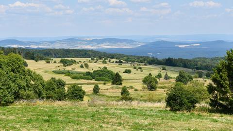 Malerische Landschaft im Biosphärenreservat Rhön