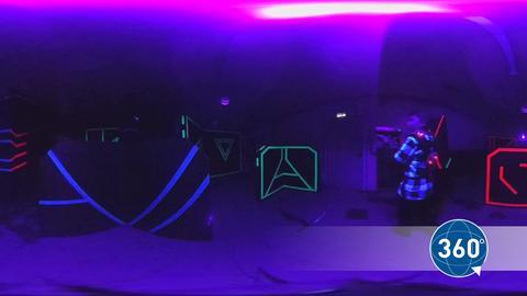 So sieht es beim Lasertag-Spielen aus.