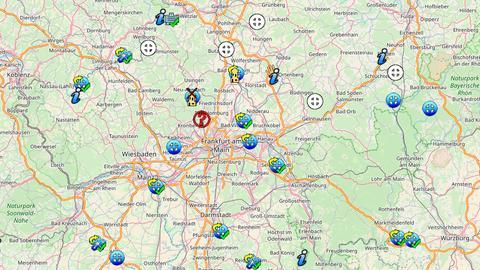 Eine interaktive Karte zeigt die Teilnehmer des Mühlentages.