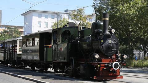 Historische Dampfeisenbahn in Darmstadt