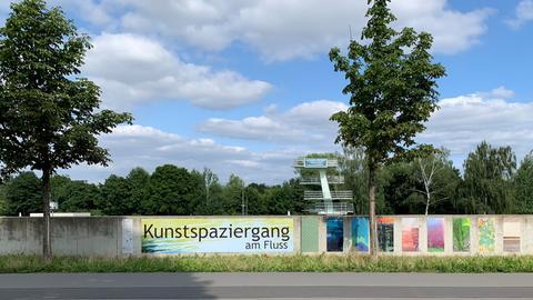 Cartoonausstellung am Fuldaradweg/Kunstausstellung am Fluss
