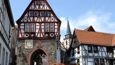 Blick auf das Oberurseler Rathaus
