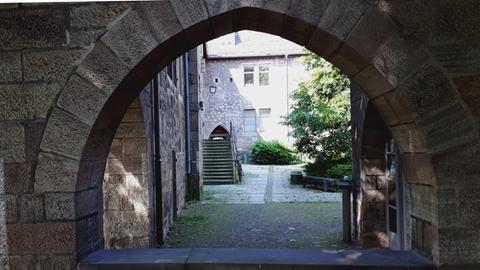 Der Innenhof des alten Klosters