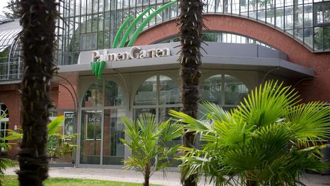 Der Eingang des Palmengartens in Frankfurt
