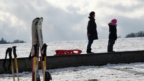 Schnee Schlitten Ski Willingen Winter