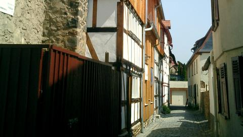 Die renovierten Schwibbogenhäuser