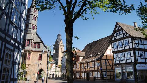 Städtetipp Korbach: Die Stechbahn ist das Zentrum der Korbacher Altstadt.