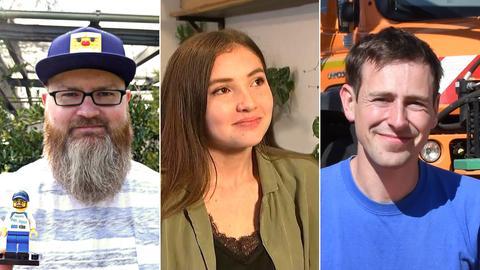 Christoph Lottermann, Jasmin Rose und Martin Welker
