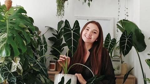 Pflanzen statt Deko: Jasmin Rose in ihrer Wohnung.