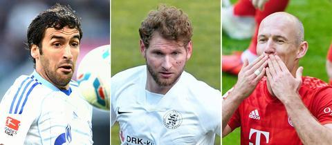 3 Fussballer als Kombo, mit Arien Robben