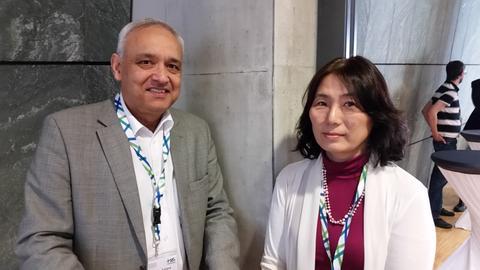 Armadeo Sarma, NEC Europe, und Kazue Sako, NEC Japan