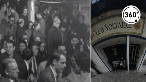 Eingang des Club Voltaire