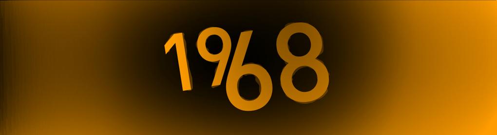 Großer Schriftzug: 1968