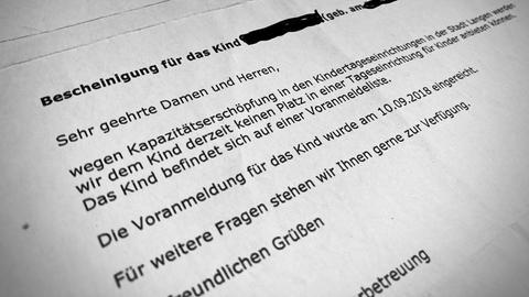 Absage Kreis Offenbach Betreuungsplatz