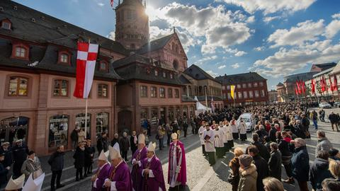 Kardinal Lehman wird in Mainz verabschiedet.