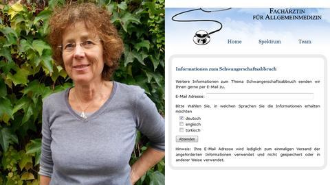 Ärztin Kristina Hänel - Screenshot ihrer Internet-Seite