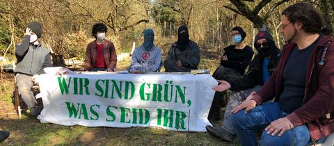 Aktivisten Günthersburghöfe Frankfurt