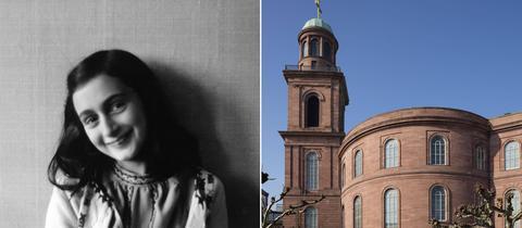 Bildkombo Anne Frank Paulskirche