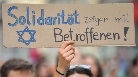 Plakat gegen Antisemitismus