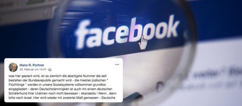 Collage zum Antisemitismus eines Moderator des Offenen Kanals Kassel