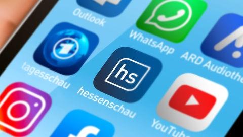 Smartphone mit hessenschau-App