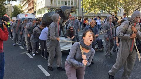 Attac-Demonstration in Frankfurt