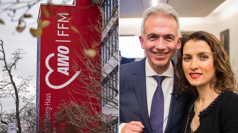 Bildkombo AWO-Zentrale Frankfurt, Ehepaar Feldmann