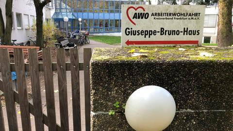 Eingang AWO Kreisverband Frankfurt beim Guiseppe-Bruno-Haus