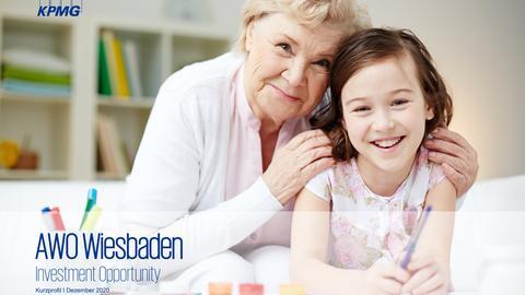 Titelbild des Verkaufsprospekts der KPMG für Kitas und Pflegeheime des AWO-Kreisverbands Wiesbaden