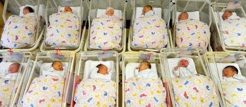 Babys im Krankenhaus