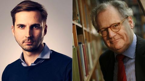 Master-Student Frederik Heinz / Professor Matthias Lutz-Bachmann (v.l.)